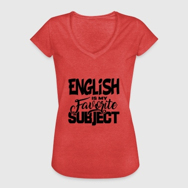 School Subject School Gift Student Subject English - Women's Vintage T-Shirt