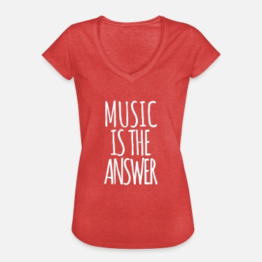 Music Is The Answer Music is the Answer - Women's Vintage T-Shirt