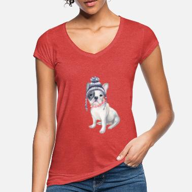 6fac0dcd Frenchie French Bulldog Toque Beanie beads Dogs - Women's Vintage T-.  Women's Vintage T-Shirt