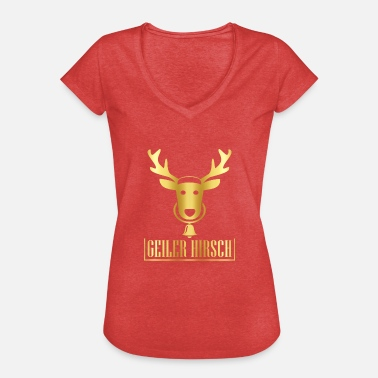 Horny Saying Horny stag Horny stag - Women's Vintage T-Shirt