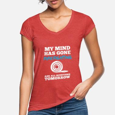 Hase Feuer my mind has gone firefighting - Frauen Vintage T-Shirt