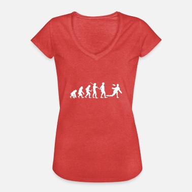 Ultimate Human Evolution Ultimate Frisbee Player - Women's Vintage T-Shirt