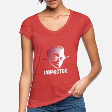 Meeting Impostor he is among us geschenk hashtag# - Frauen Vintage T-Shirt