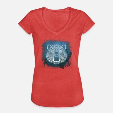 Mandala Animal Tigre - Mandala Animal - Camiseta vintage mujer