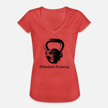 Kettlebell Training Oldschool Training Kettlebell - Women's Vintage T-Shirt