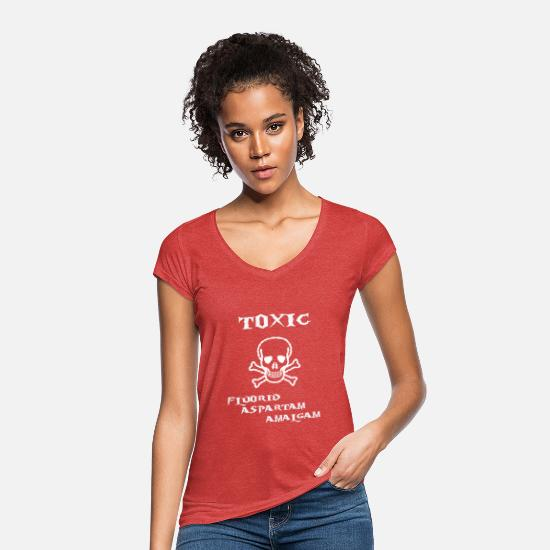 Gift Idea T-Shirts - toxic - Women's Vintage T-Shirt heather red