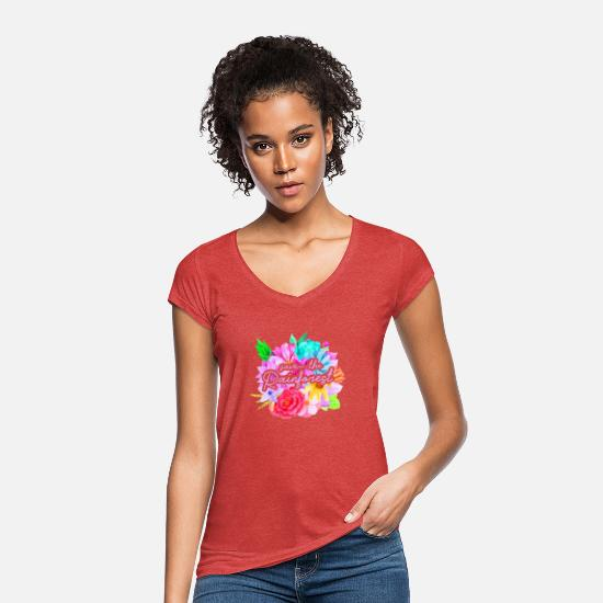 Flowers T-Shirts - save the rainforest, nature conservation, rainforest - Women's Vintage T-Shirt heather red