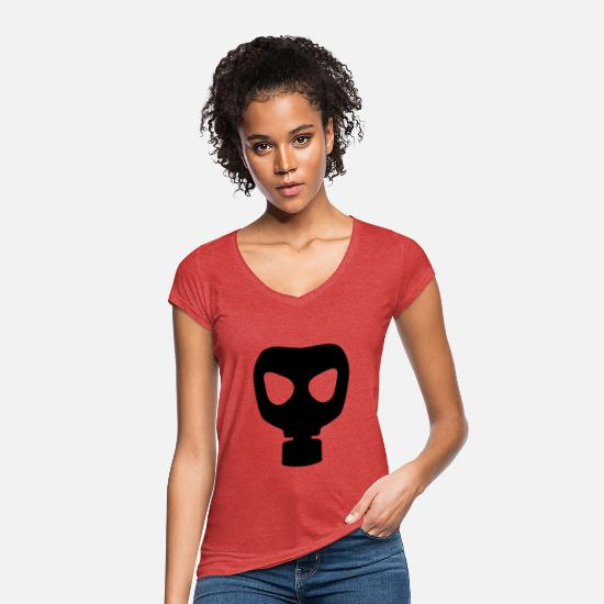Gas T-Shirts - Gas mask - Women's Vintage T-Shirt heather red