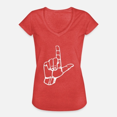 Gesture Loser - Loser Hand - Gesture - Character L - Women's Vintage T-Shirt