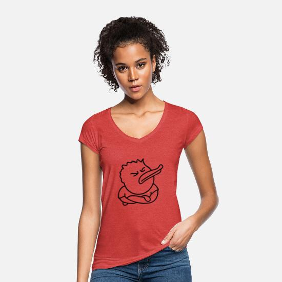 Injured T-Shirts - Offended Duck - Women's Vintage T-Shirt heather red