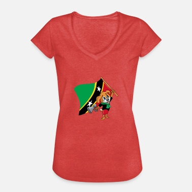 Saint Kitts And Nevis St. Kitts and Nevis fan dog - Women's Vintage T-Shirt