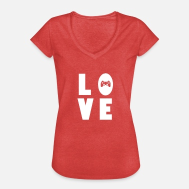 Computergame Gaming love Computergames zocken Geschenk - Frauen Vintage T-Shirt