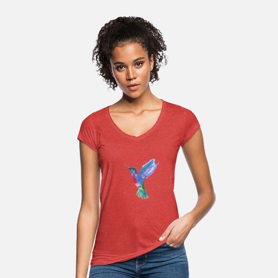 Nature T-Shirts - bird - Women's Vintage T-Shirt heather red