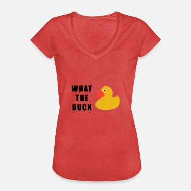 Rubber Duck what the duck - Women's Vintage T-Shirt