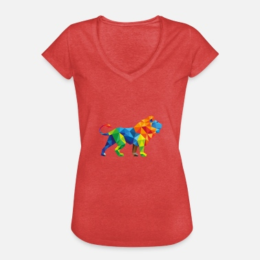 Sevärdheter Colorful Lion - Triangle sevärdhet - Vintage-T-shirt dam