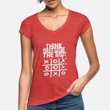 Box Think outside the box - Women's Vintage T-Shirt