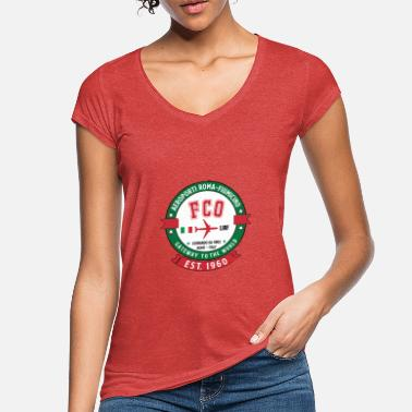 Italië FCO Luchthaven Rome-Fiumicino Italië - Modern Vintage - Vrouwen vintage T-Shirt