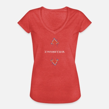 Slippery Two-seater. Bovenverdieping Sex. Oraal. Gift. - Vrouwen Vintage T-shirt