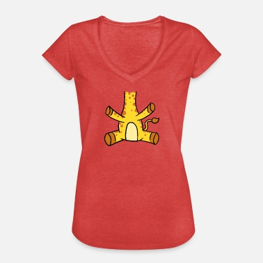 Heads No Head My Head is Giraffe Head - Vrouwen Vintage T-shirt