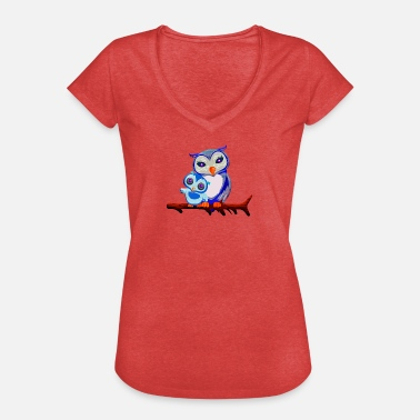 Manga Kawaii Owls Kawaii Manga Anime - Women's Vintage T-Shirt