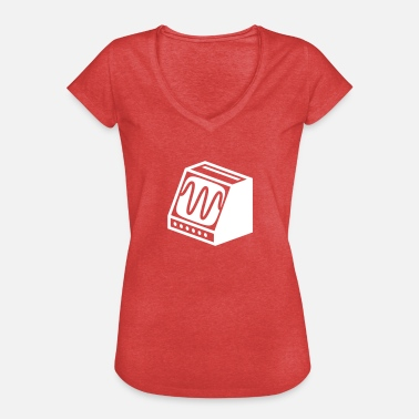 Old Fashioned Old Fashioned Computer Screen - Women's Vintage T-Shirt