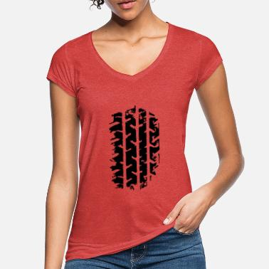 tire track - Women's Vintage T-Shirt