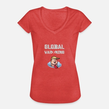 Global avertissement global - T-shirt vintage Femme