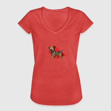 Border Terrier - Frauen Vintage T-Shirt