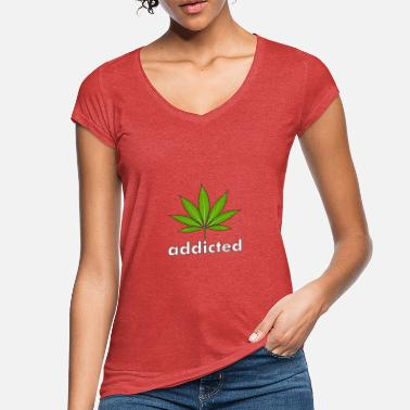 Blatt Hanf addicted - Frauen Vintage T-Shirt