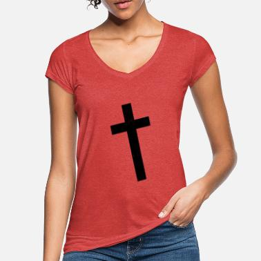 Crook Cross crooked - Women's Vintage T-Shirt