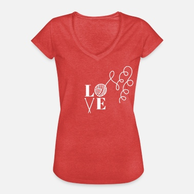 I Love Knitting Love knitting. I love knitting! - Women's Vintage T-Shirt