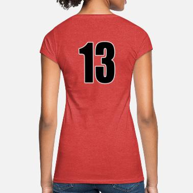Thirteen Number 13 Number Thirteen - Back Number Football Sport - Women's Vintage T-Shirt