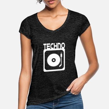b05a4e52 Techno DJ - Women's Vintage T-Shirt