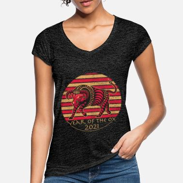 Chinese Chinese year of the Ox 2021 - Women's Vintage T-Shirt