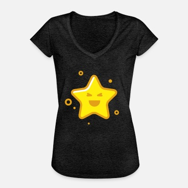 Shine Bright Like A Diamond Star emoji - Women's Vintage T-Shirt