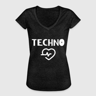 I Love Techno I love Techno - Frauen Vintage T-Shirt