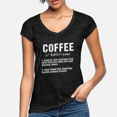 Coffee funny coffee definition - Women's Vintage T-Shirt