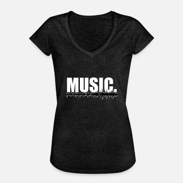 Frequency Music Music music sound frequency wave gift - Women's Vintage T-Shirt