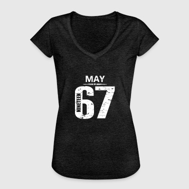 May 1967 Jersey Number - Women's Vintage T-Shirt