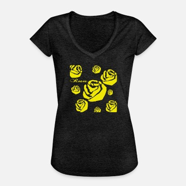 Roses Roses yellow - Women's Vintage T-Shirt