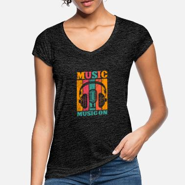 Soundsystem MUSIC ON RAP BEATS SOUNDS MUSIK BASS ELEKTRO - Frauen Vintage T-Shirt