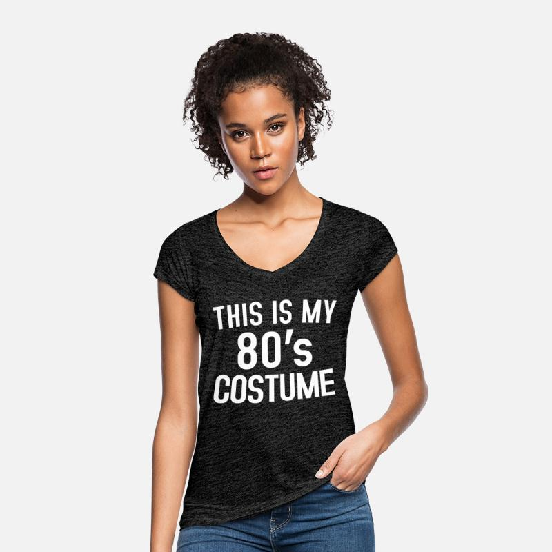 80s T-Shirts - 80s look - Women's Vintage T-Shirt charcoal grey