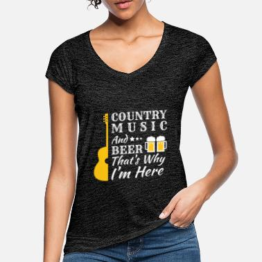 Country Country Music & Beer - Beer Music USA Gift - Women's Vintage T-Shirt