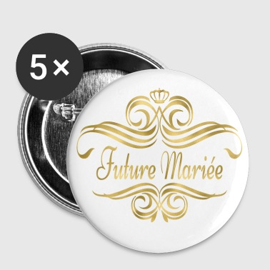 Jeune future_marie_swing_gold - Badge grand 56 mm