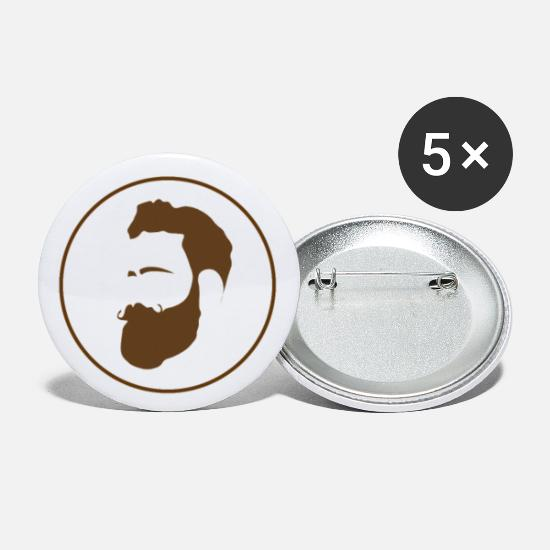 Love Buttons - Beard for beards and beard lovers - Large Buttons white