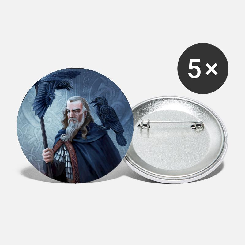 Mythical Collection Buttons & badges - Odin - Store buttons hvid