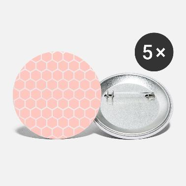 Pink Honeycomb mønster - Store buttons