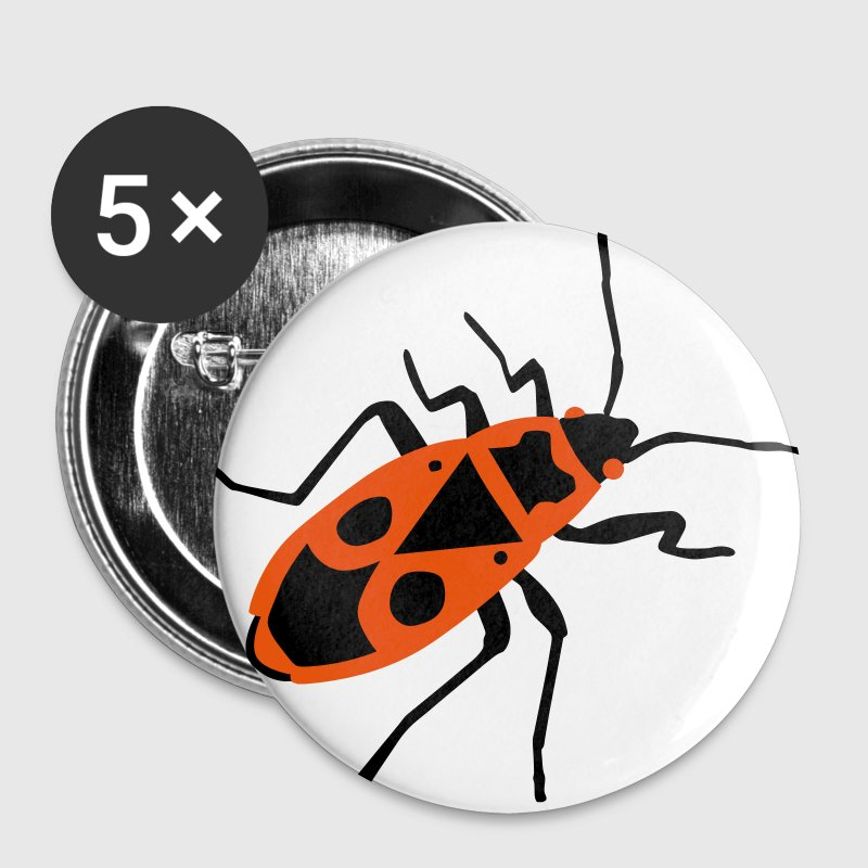 Brand kever - insect - Firebug - Buttons groot 56 mm