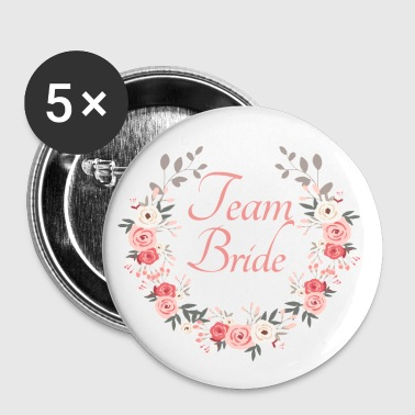team_bride_rose_wreath - Buttons groot 56 mm