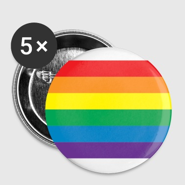 Classic Gay Pride Rainbow - Buttons large 56 mm
